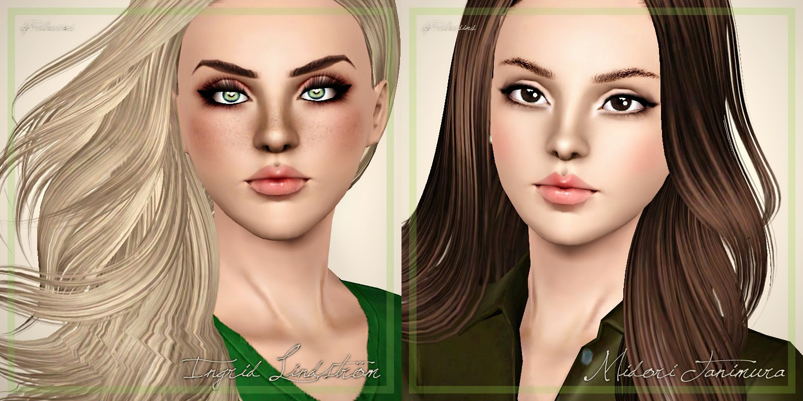 2 Models - Blonde+Brunette by Praline Sims