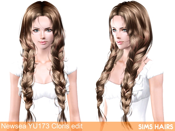 Newsea YU 173 Cloris AF hairstyle retexture by Sims Hairs
