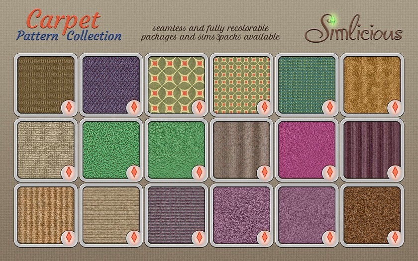 Carpet Pattern Collection by Simlicious