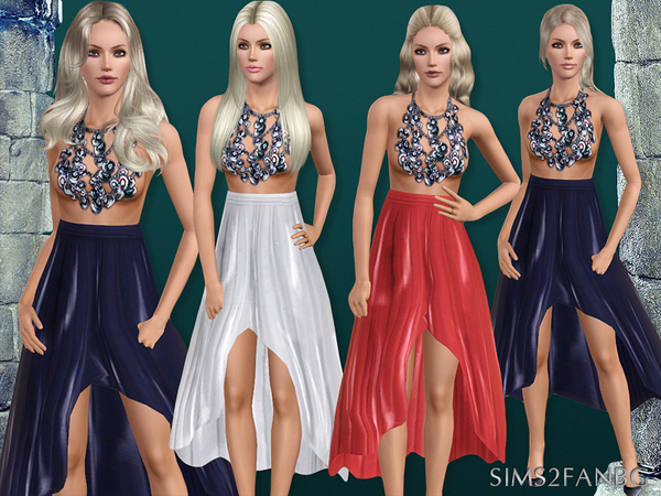 394 - Skirt with necklace by sims2fanbg