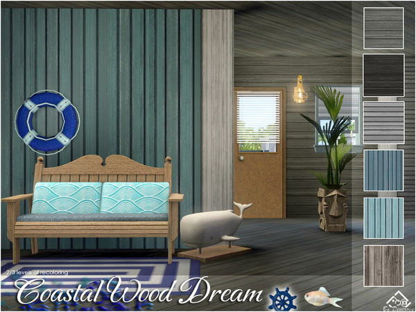 Coastal Wood Dream Patterns Collection by Devirose