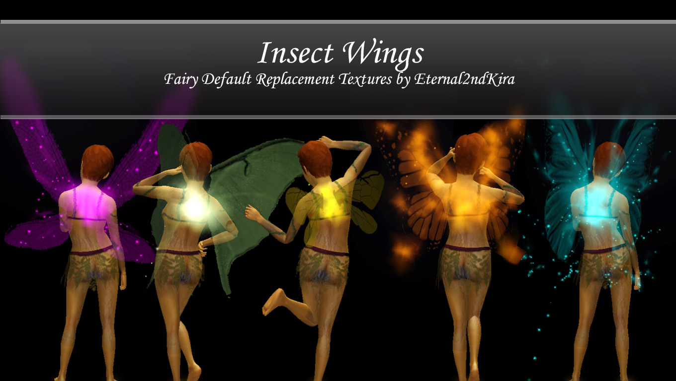 Insect Wings (Fairy Replacements) by Eternal2ndKira
