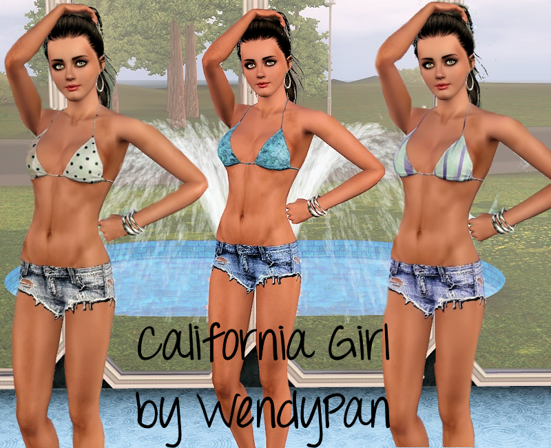 California Girl shorts set by Wendy Pan