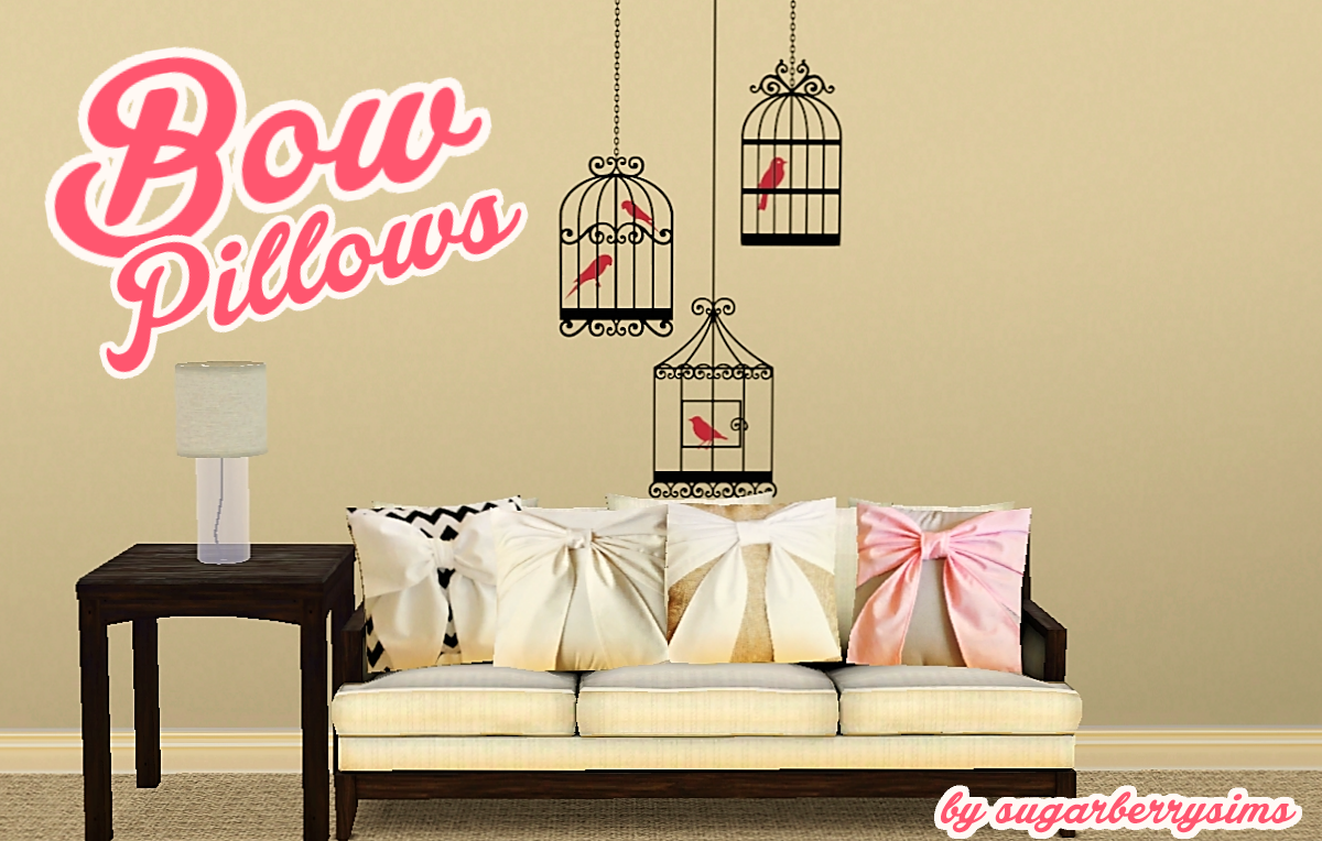 Bow Pillows by Sugarberrysims