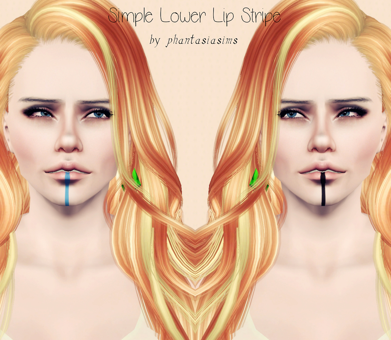 Simple Lower Lip Stripe by Jassi