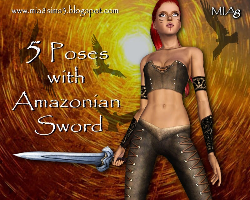 5 Poses with Amazonian Sword by Mia8