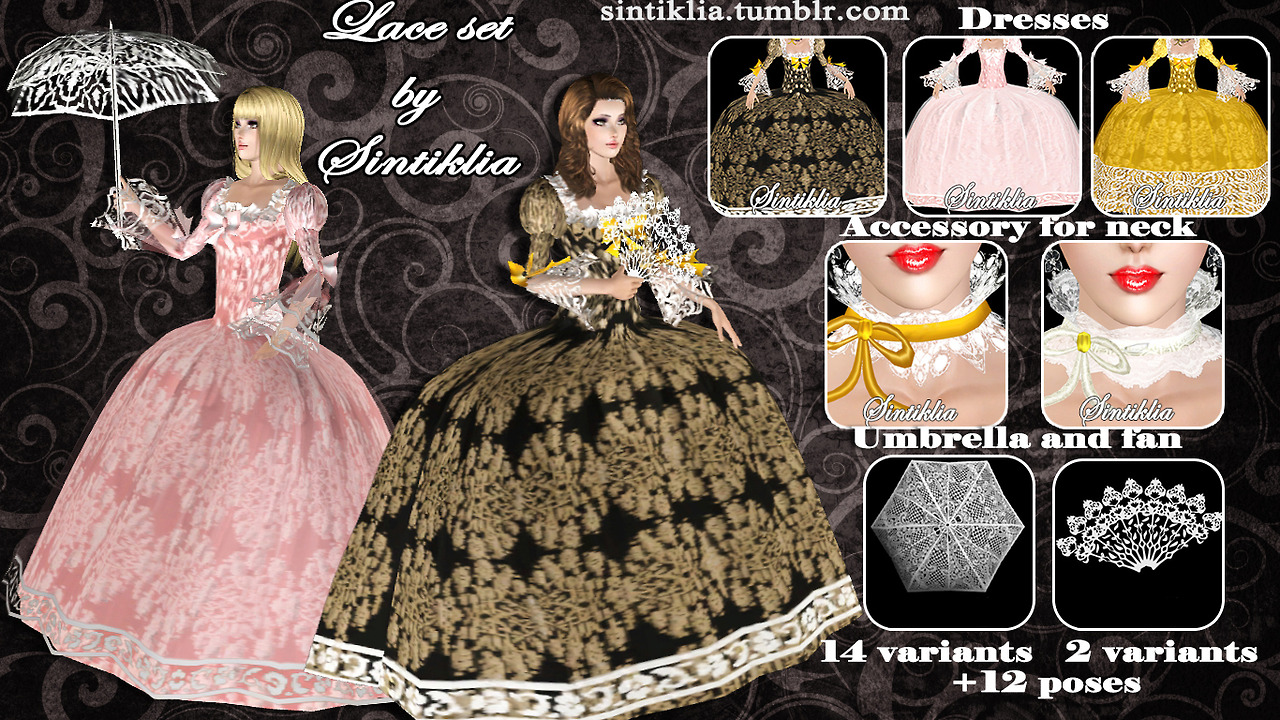 Lace Gowns, Accessories by Sintiklia