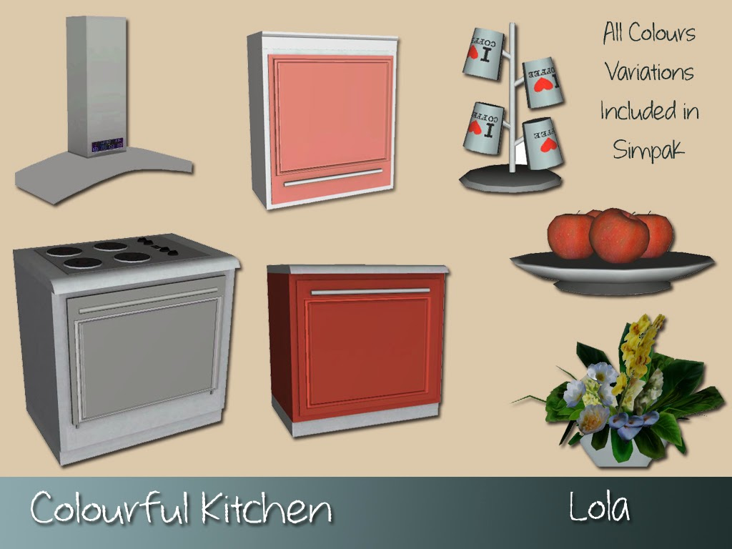 Colourful Kitchen Set by Lola