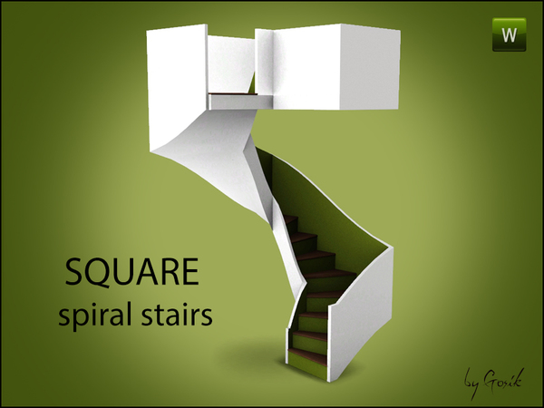 Square Spiral Stairs by Gosik