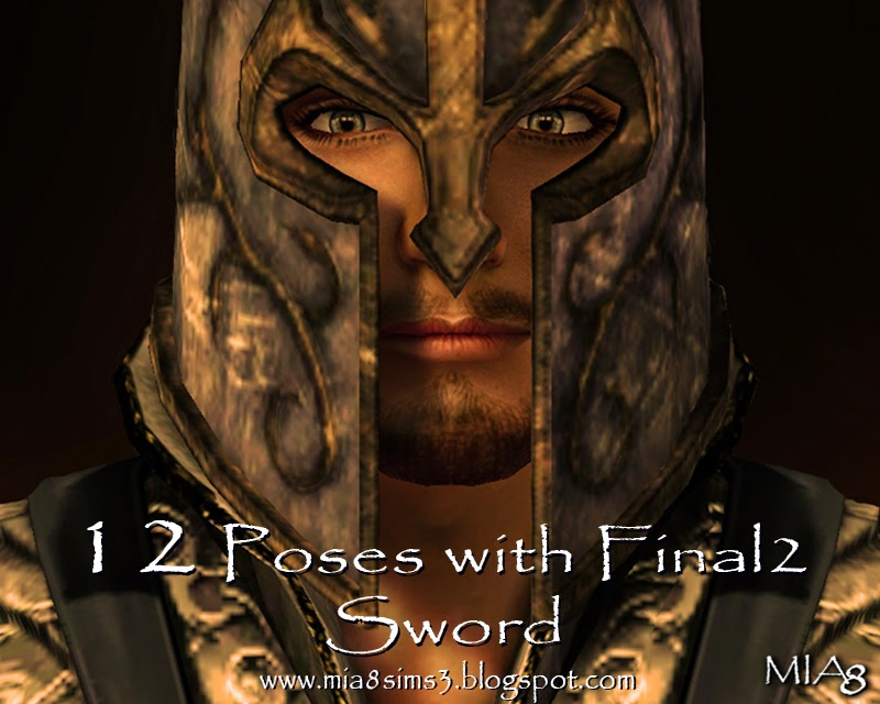 12 Poses with Final2 Sword by Mia8