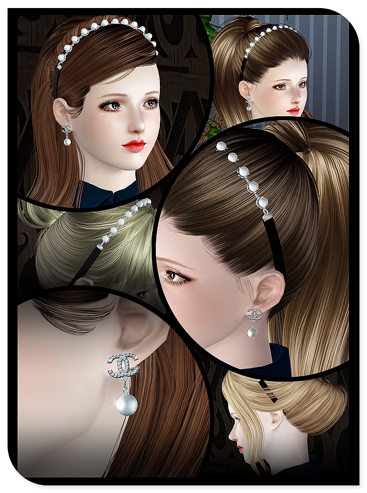 Pearl Ribbon & Earrings by S-club