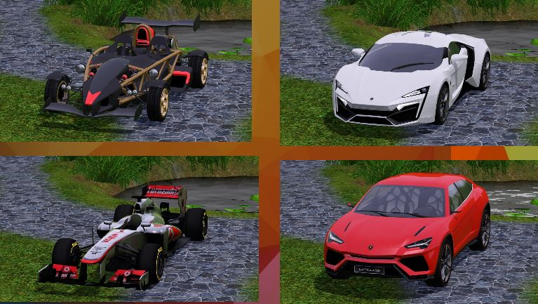 4 exclusive cars by Craftsle