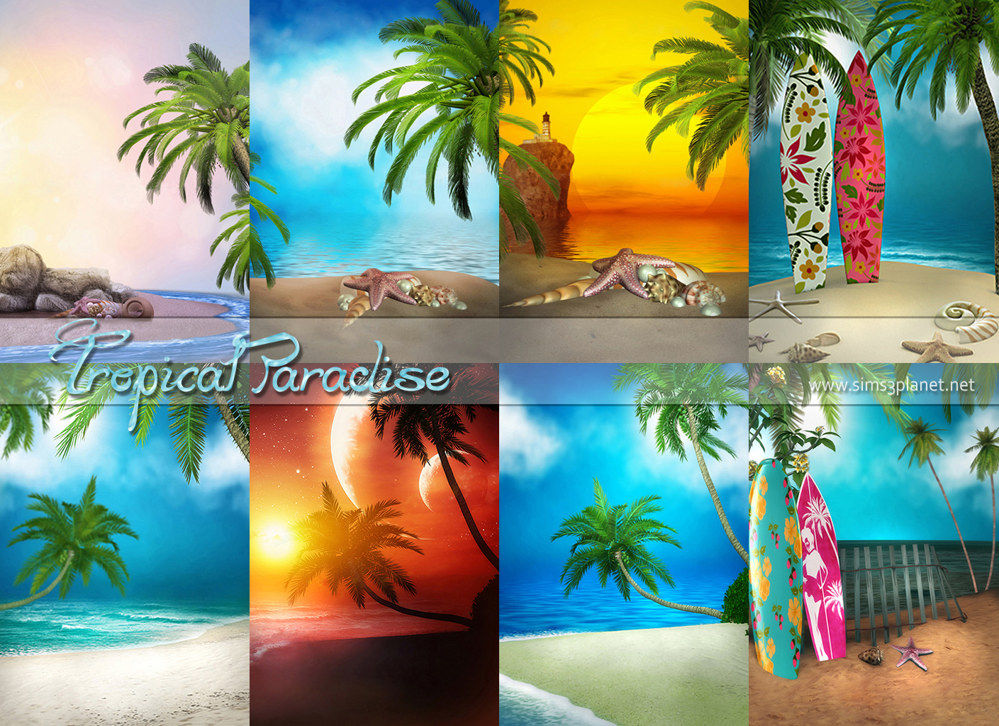 Tropical Paradise backgrounds by Torri