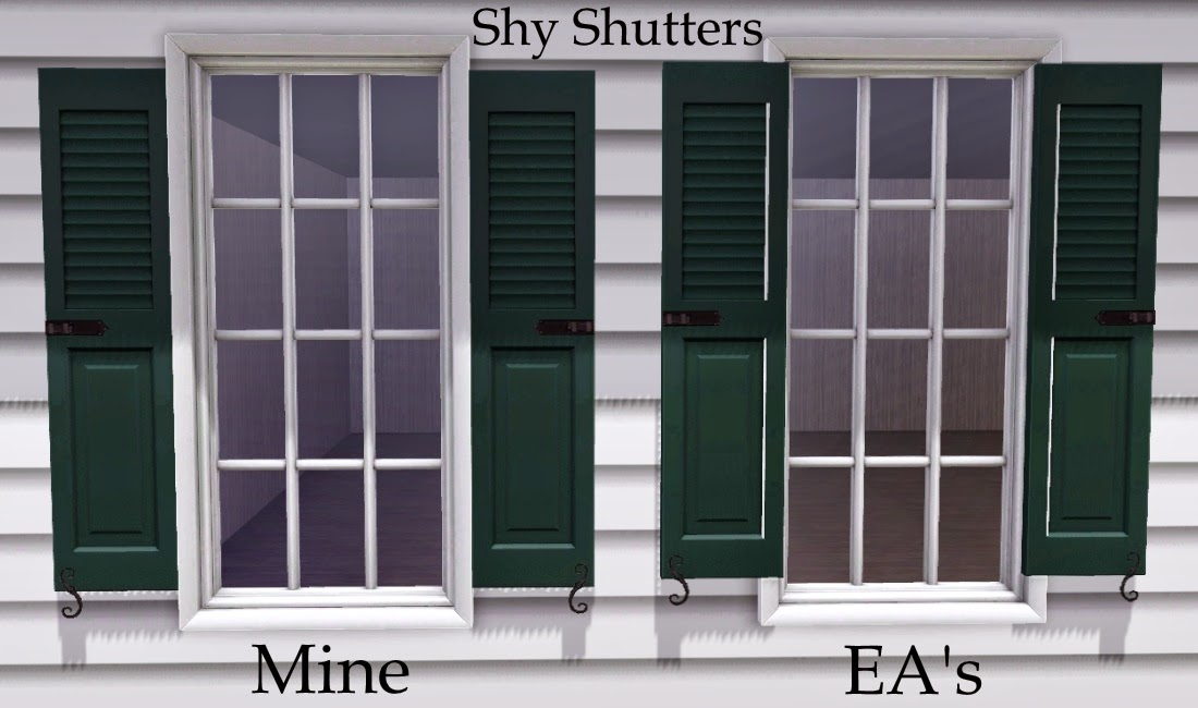 Separated Shutters (Shiftable Left & Right Pieces) by alverdine