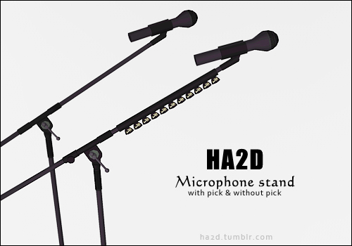 Microphone set by HA2D