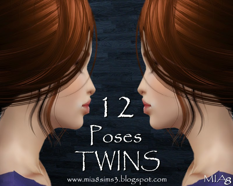 12 Poses TWINS by Mia8