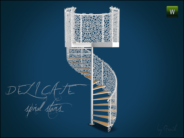 Delicate Spiral Stairs by Gosik