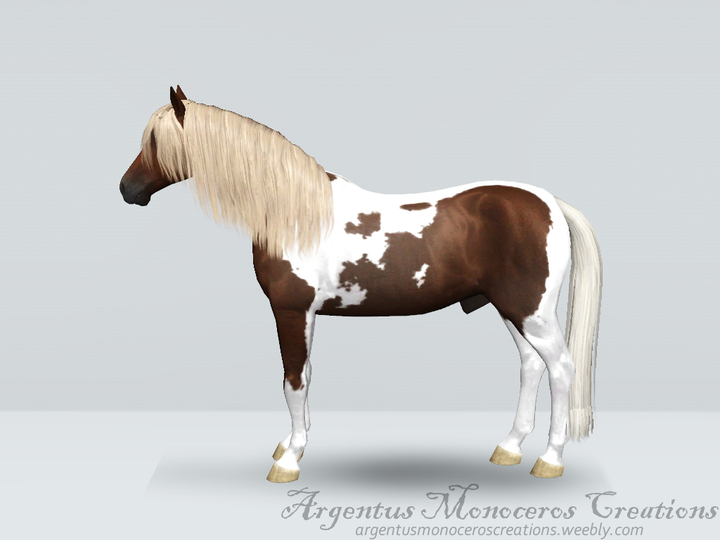 Silver black pinto stallion by ArgentusMonoceros