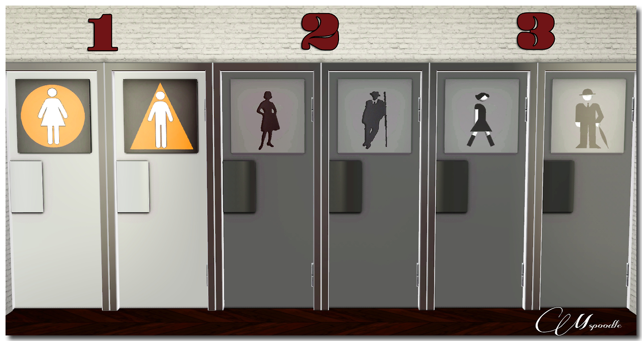 Community Lot Restroom Door Revamp By Mspoodle1