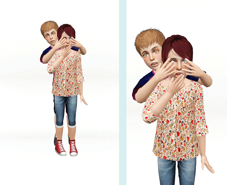 Double Team Child Posepack 7 Sets by Simswhen