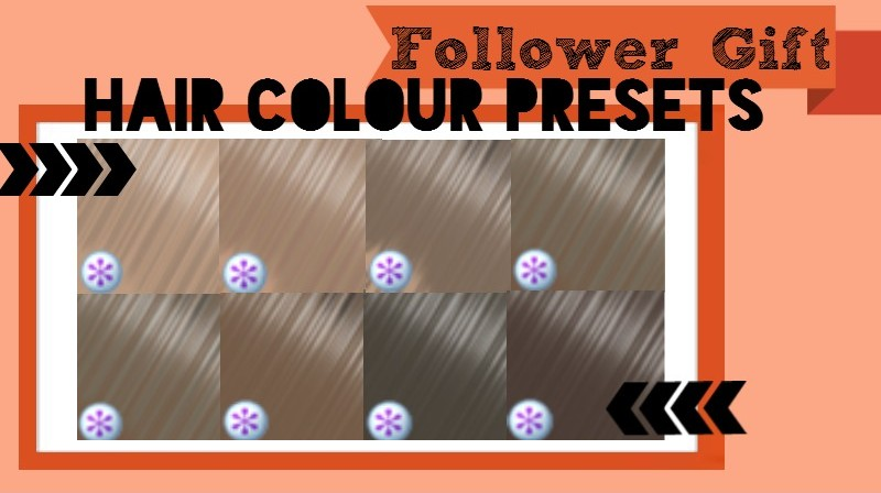 Hair Colour Presets by woohoodlums