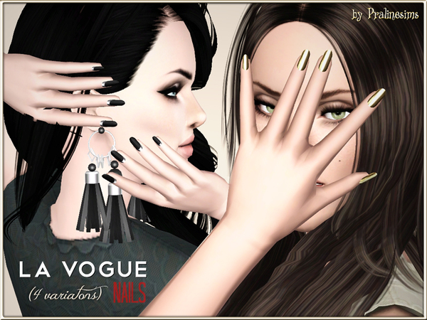 La Vogue Nails (4 VARIATIONS) by Pralinesims
