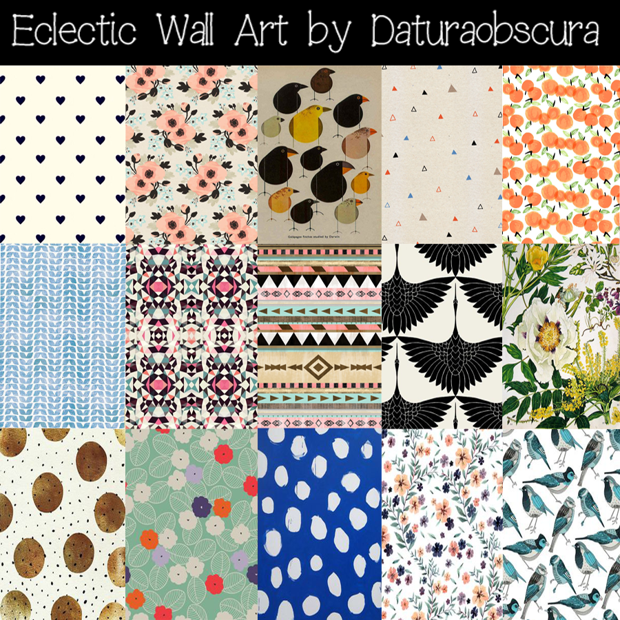 Eclectic Mish Mash Wall Art And Rugs By Daturaobscura