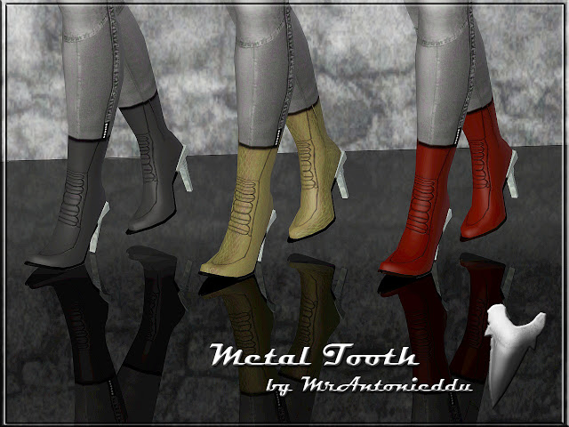 Metal Tooth Boots [IMHO request] by MrAntonieddu