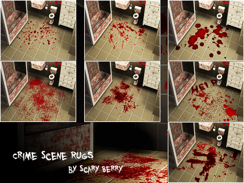 Crime Scene Rugs & Wallstickers by ScaryBerry