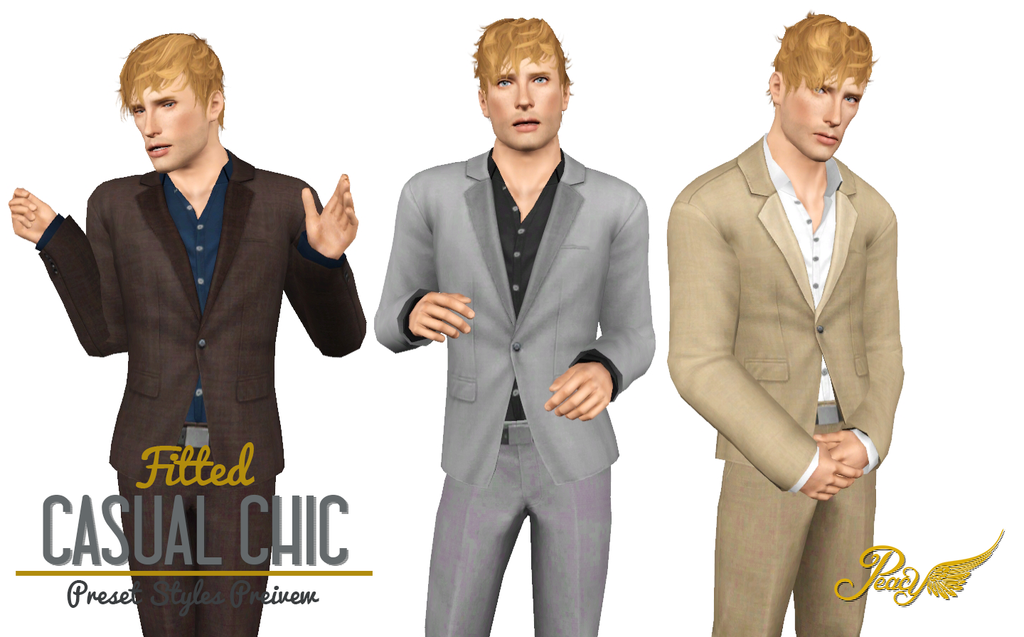 Fitted Casual Chic - Single Button Jacket by Peacemaker ic