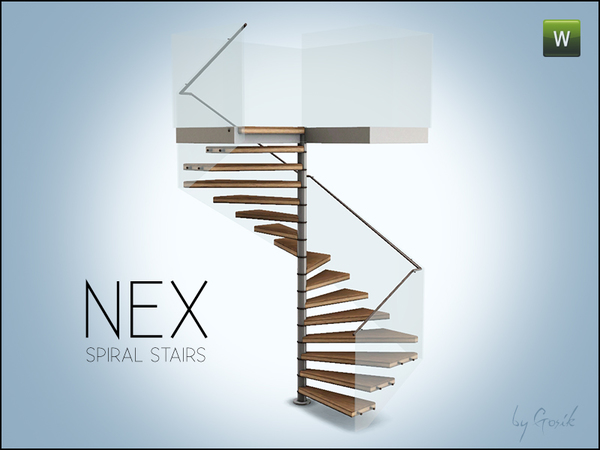 Nex square spiral stairs by Gosik
