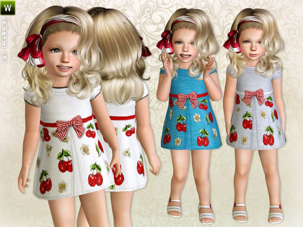 Toddler Cherry Print Dress by lillka