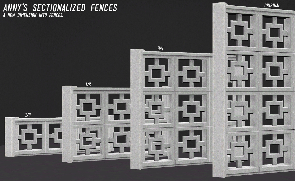Anny's Sectionalized Fences by Levini