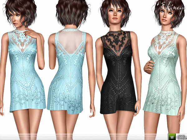 Romantic Mini Dress by ekinege