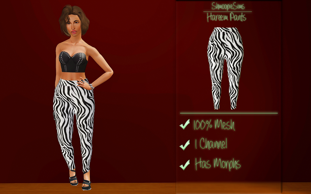 Hareem Pants by Shmoopiesims