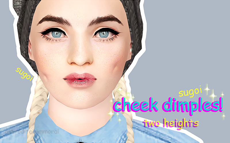 Cheek Dimples by Aphroditeisimmoral