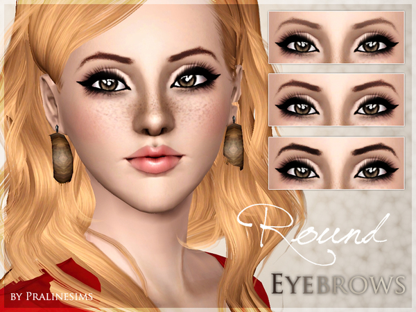 Round Eyebrows by Pralinesims