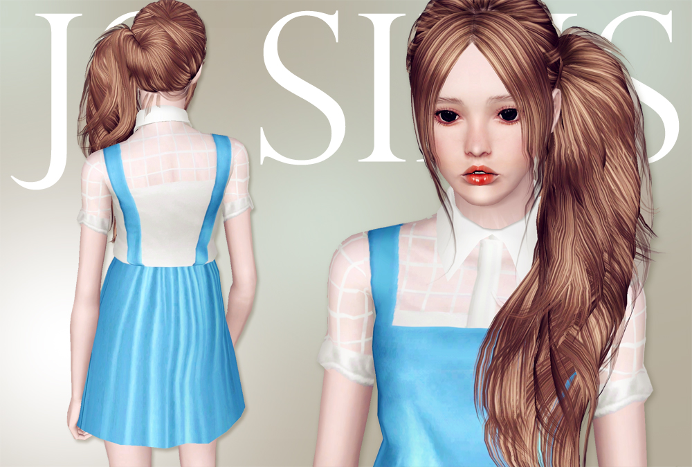 Mesh Top With Suspender Skirt by JS Sims 3