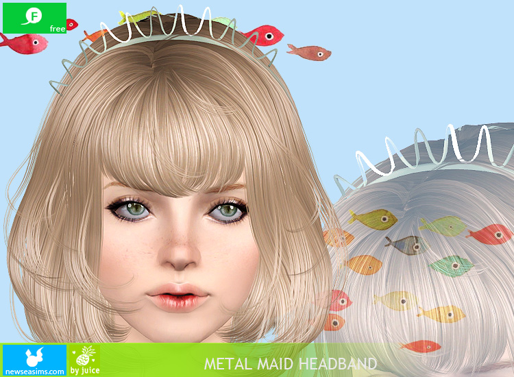 Metal Maid Headband by Newsea