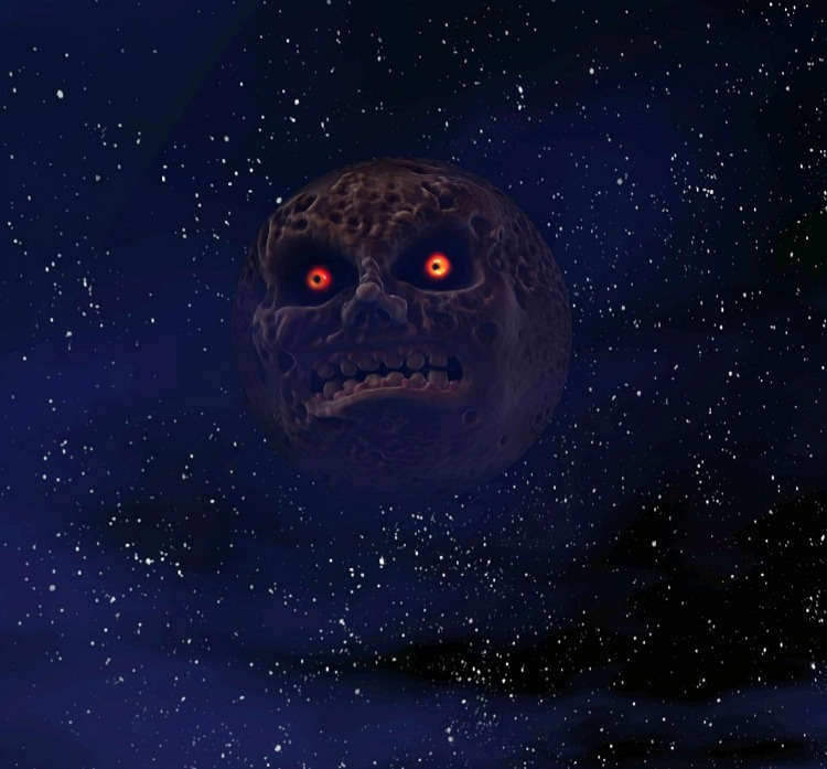 The Legend of Zelda Majoras Mask Moon by Simsl3gacies