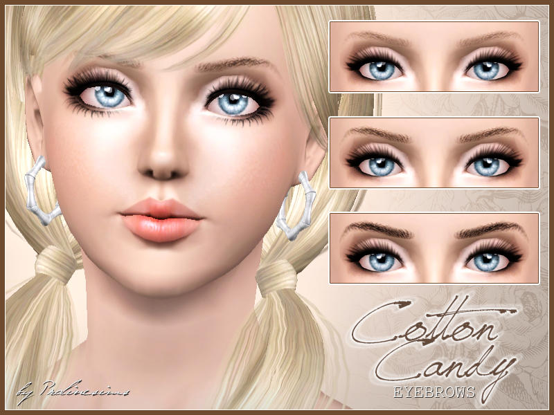 Cotton Candy Eyebrows by Pralinesims
