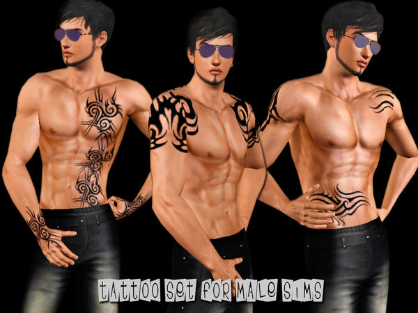 Tattoo Set For Male Sims от saliwa