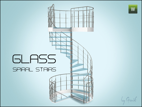 Glass spiral stairs By Gosik