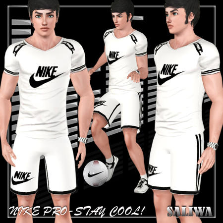 Nike Pro Athletic Male Set 09 by Saliwa