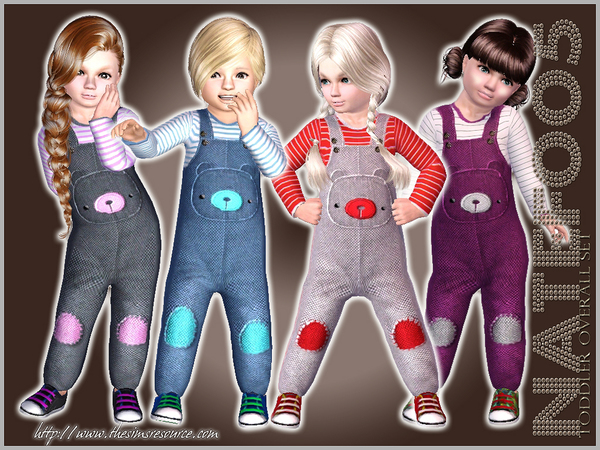 Toddler Bear Overall Set by natef005