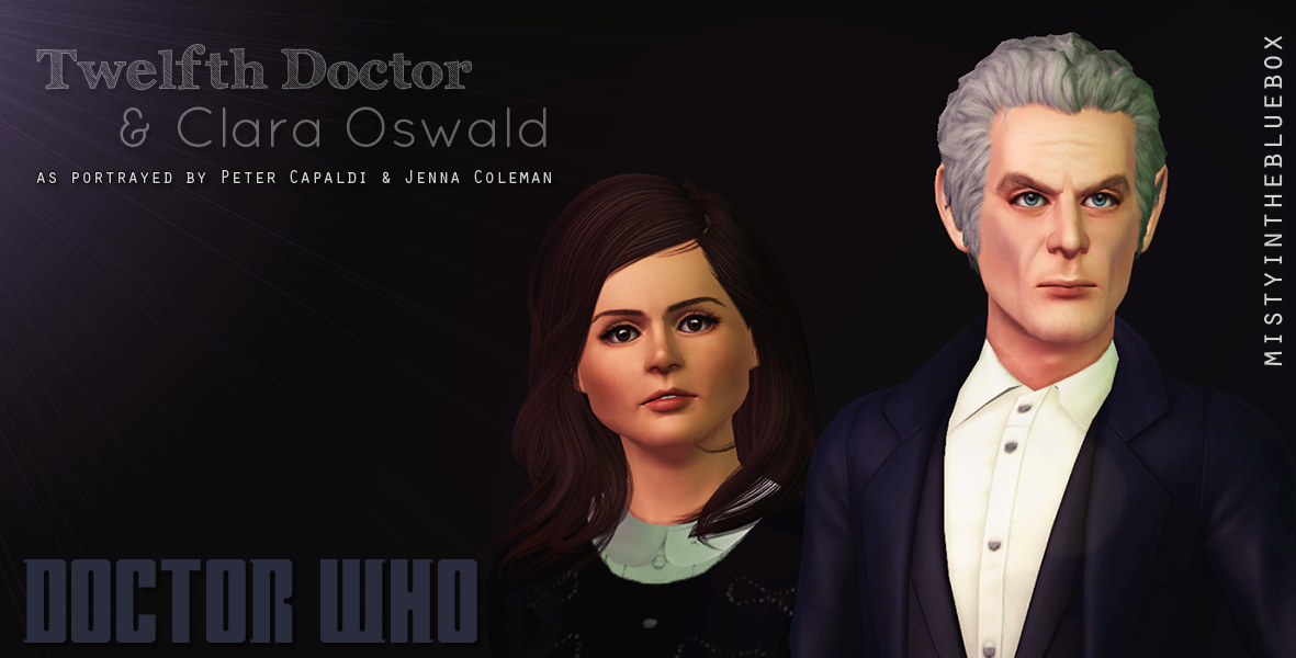 The Twelfth Doctor & Clara Oswald by Misty In The Blue Box