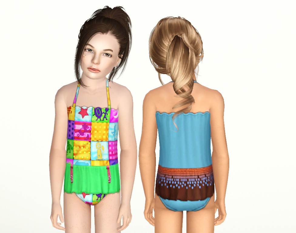 Ruffle Skirt One Piece Bathing Suit by NyGirl