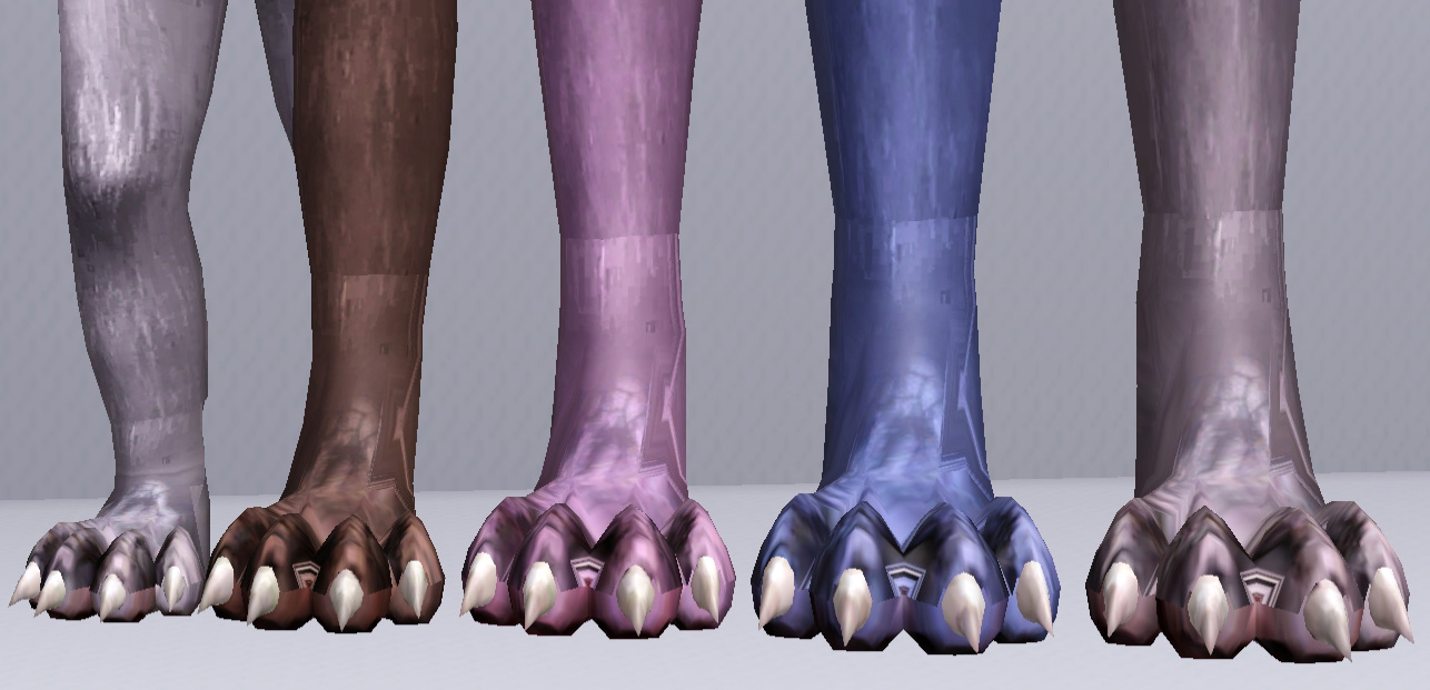 Sims 3 Updates - Mod The Sims : Wolf Feet For All by Camkitty