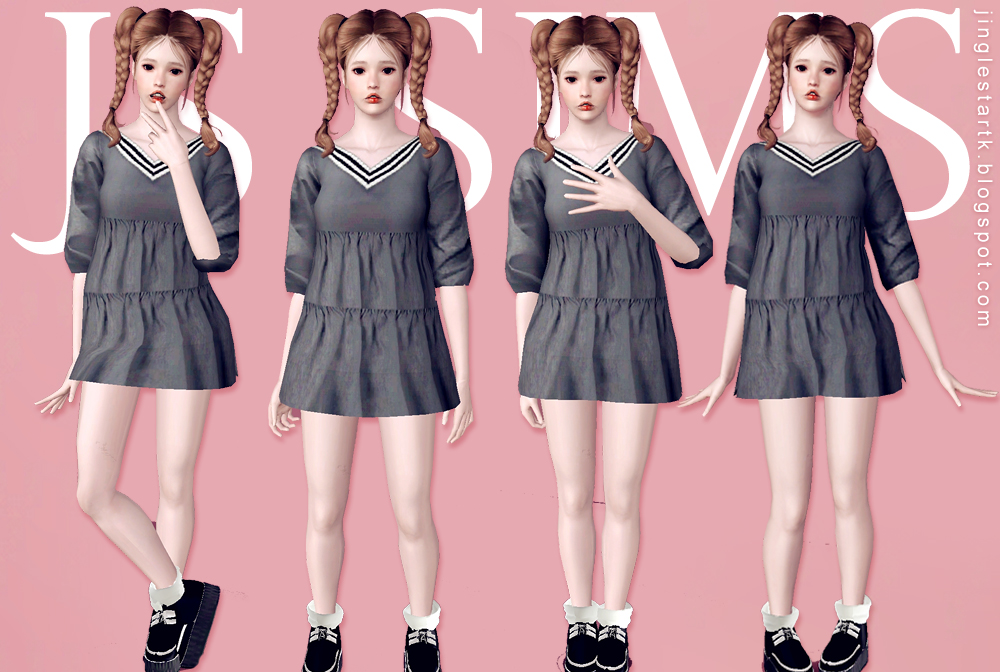 V Neck Layered OPS by JS Sims 3