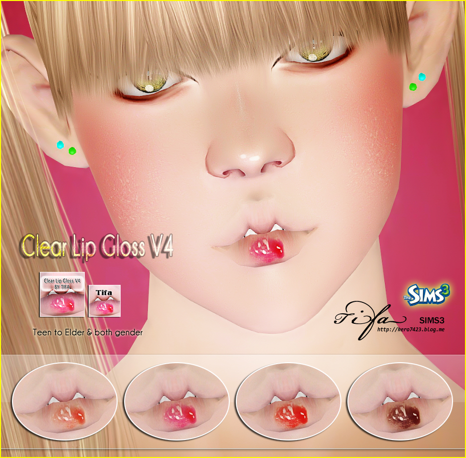 Clear Lip Gloss V4 by Tifa